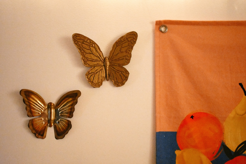 thrifted butterfly decor